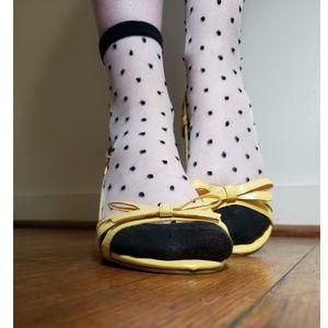 Cute short yellow heels